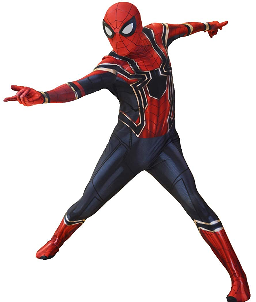 Iron Spiderman Costume Spider,Man Suit for Kids and Adults Cosplay Iron  Spider,Man Movie Best Halloween Costume