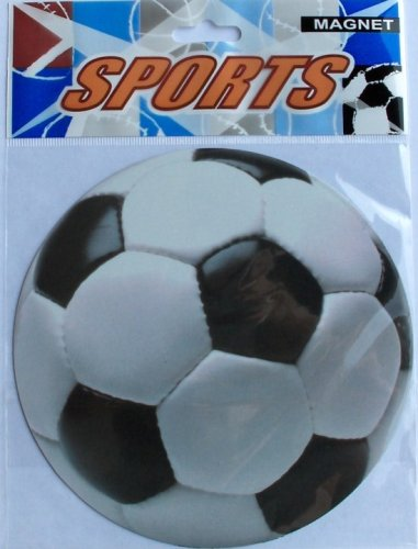 Set of 12-Soccer Ball Car Magnets-5.5 Inches ()