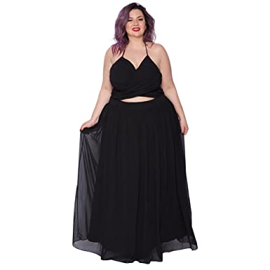Astra Signature Womens Plus Size Wedding Formal Evening Party Venus Gown Wrap Maxi Dress