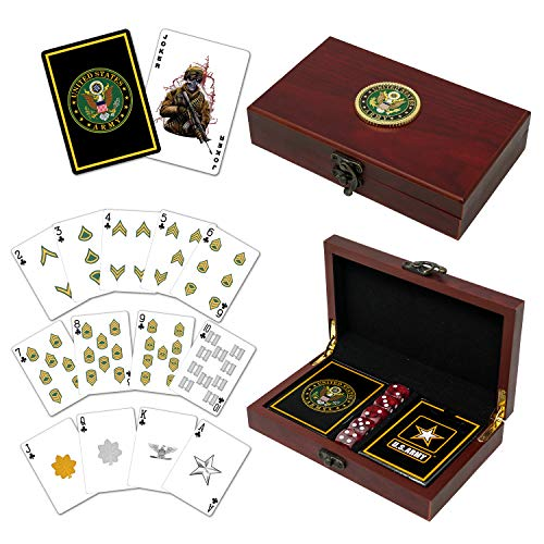 Army Playing Cards with Dice US Army Gift Set