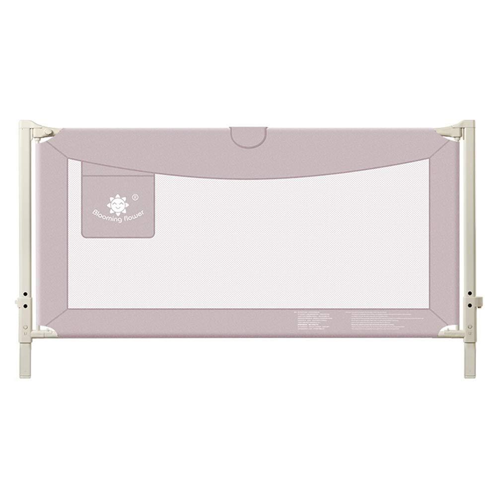 ベッドフェンス, 幼児のためのベッドの柵の監視、王/女王のフルサイズのベッドのための赤ん坊/子供の安全ベッドのガードレール、縦の上昇及び高さの調節 (Color : Pink, Size : 150cm) 150cm Pink B07SXW8QB5