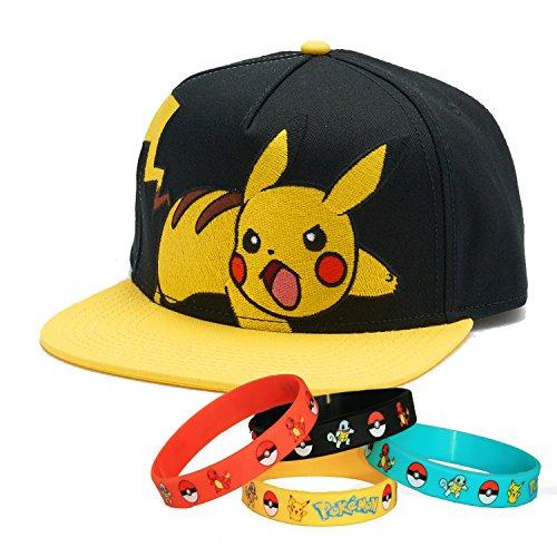 Pokemon-Go-Amarillo-Pikachu-gorro-de-gorra-con-pulsera