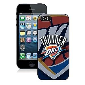 New Custom Design Cover Case For iPhone 5s Generation Oklahoma City Thunder 5 Black Phone Case