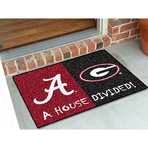 FANMATS Alabama - Georgia House Divided Rug 33.75