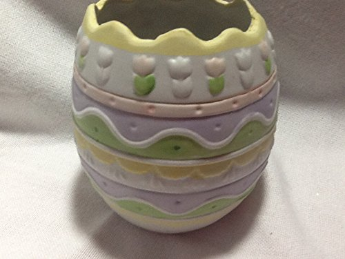 Standing Bisque Egg, Easter Floral Arrangement Container ()