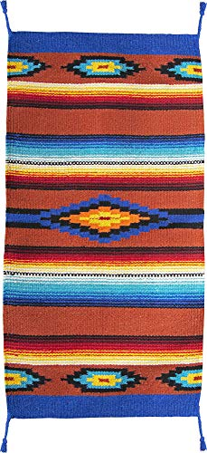 El Paso Designs Hand Woven Classic Mexican Serape Rug Classic Mexican Saltillo Diamond Design Rug - - Three Sizes to Choose from (20