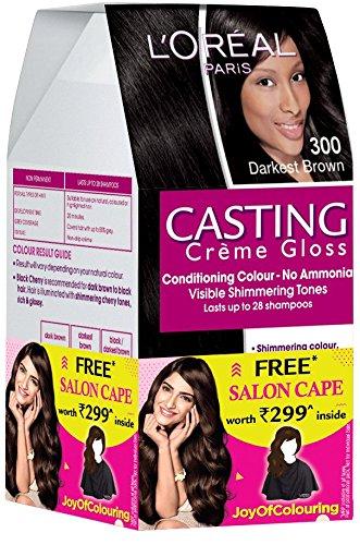 Buy L\'Oreal Paris Casting Creme Gloss Hair Color, 3 Darkest Brown ...