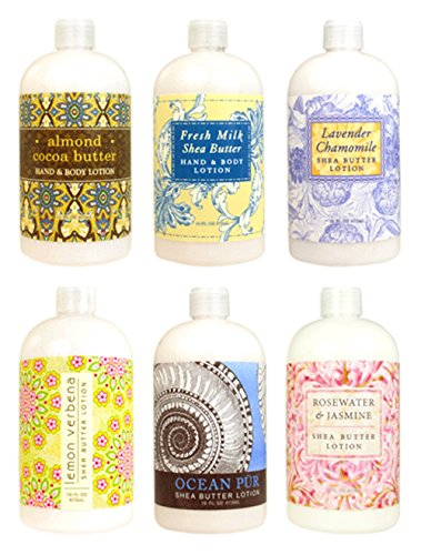 Greenwich Bay Trading Co. Hand & Body Lotion Sampler Set, 2 Ounce, 6 Pack (Verbena Mini)