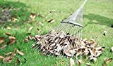 Rake 65 Inch Adjustable Garden Leaf Rake Expanding Rake Expandable Head From 7.5 Inch to 25 Inch