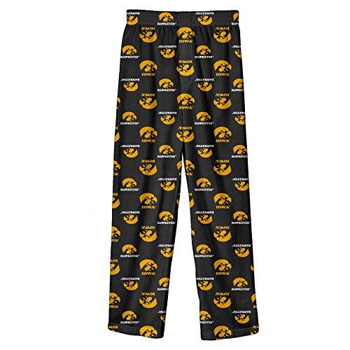 Outerstuff NCAA Iowa Hawkeyes Toddler Boys Sleepwear All Over Print Pants, Size 2T, Black - Iowa Hawkeyes Lounge Pant