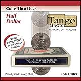 Coins Thru Deck Half Dollar by Tango - Trick (D0079)