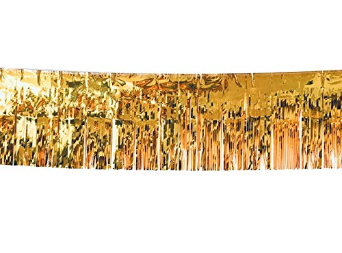 3 Pack | Gold Metallic Foil Tinsel Fringe Garland | Long Banner | 9 feet by 12 inches | for Parties, Wedding Decor, Birthdays, Holiday Decorations and Much More for $<!--$16.99-->