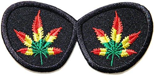 Sunglasses Weed Rasta Rastafari Jamaica Reggae Logo Jacket T shirt Patch Sew Iron on Embroidered Badge Sign - Sunglasses Zion T
