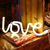 Decorative Neon Light Neon Signs Wall Decor led Night Light for Children's Birthday Room Decor Party Decoration (Warm White Love)