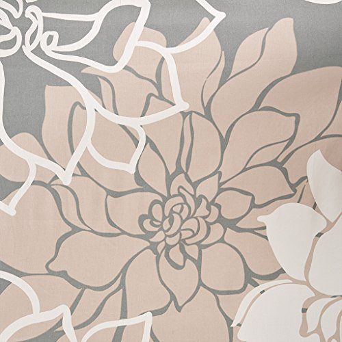 Lola Curtain - Madison Park Lola 100% Cotton Sateen Floral Printed Shower Curtain Blush 72x72