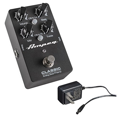 - Ampeg Classic Analog Bass Preamp Pedal with Behringer PSU-SB 9VDC Power Adapter