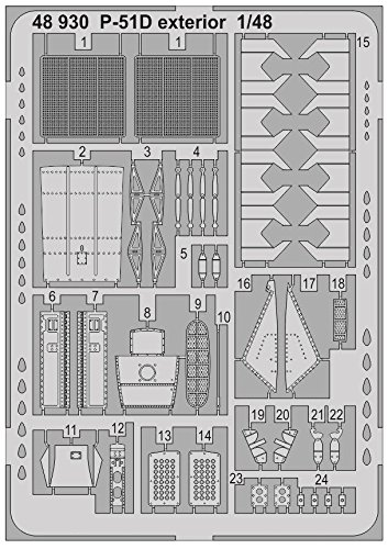 Eduard Accessories 48930Aamodelmaking Accessory P 51D Exterior For Airfix