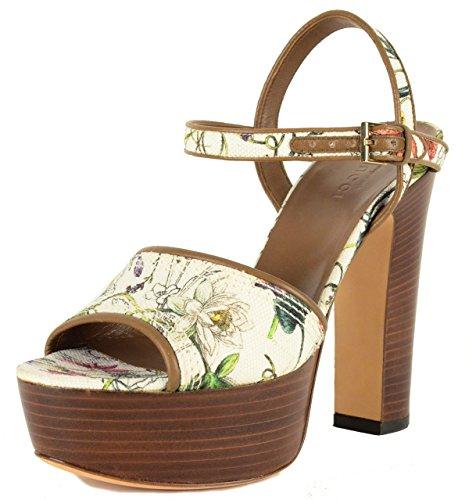 Gucci Platform Shoes (Gucci Shoes Flora Print Canvas Platform High Heel Leather Trim (IT 38.5 / US 8.5))