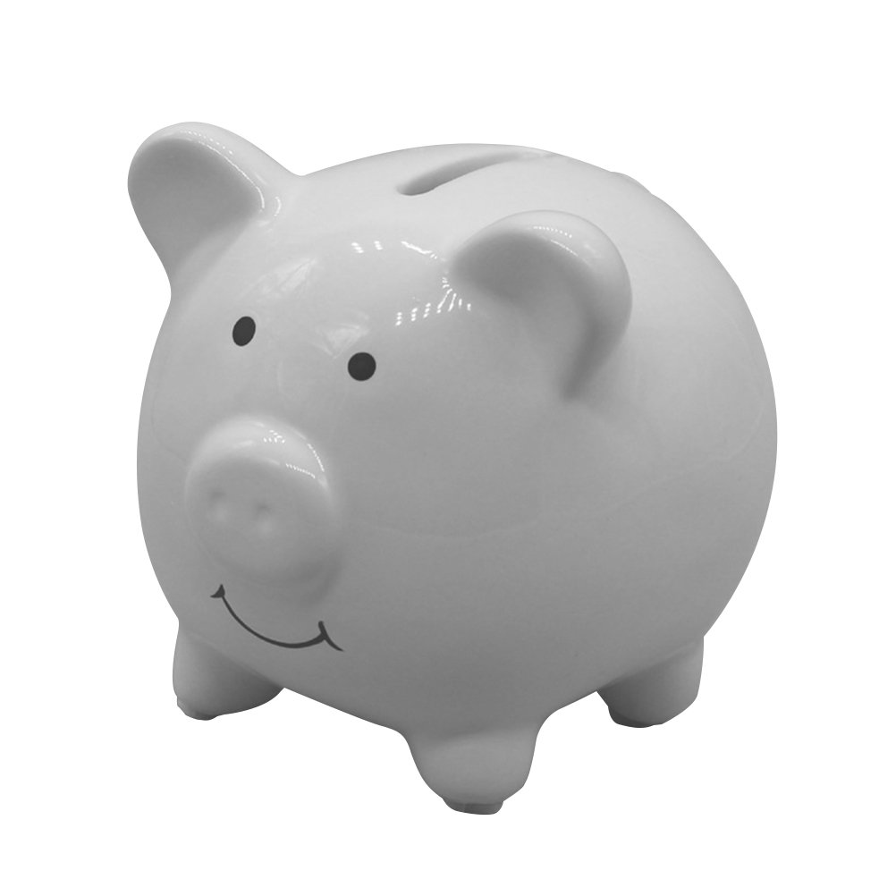 VORCOOL Ceramic Piggy Bank Cute Money Coin Bank for Girls or Boys