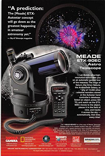 Used, Print Ad 2001 Meade ETX-90EC Astro Telescope for sale  Delivered anywhere in USA