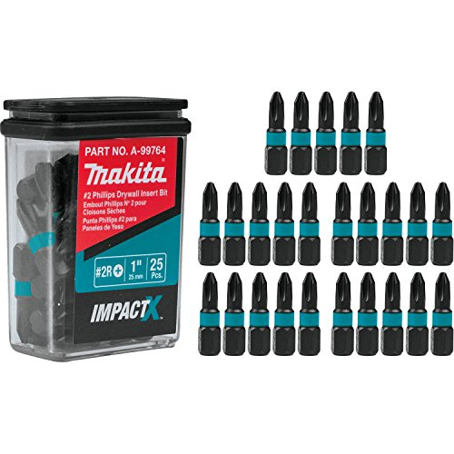 Makita A-99764 Impactx 2 Phillips Drywall 1″ Insert Bit, 25 Pack