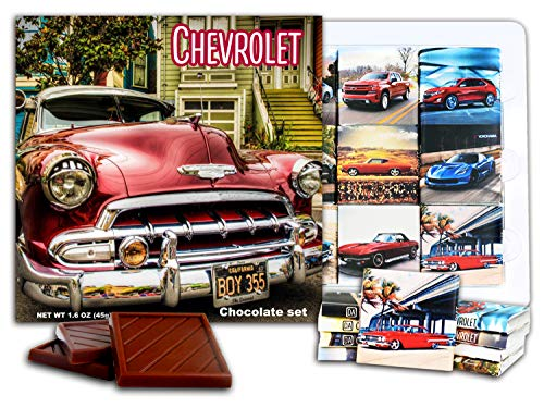 DA CHOCOLATE Candy Souvenir CHEVROLET Chocolate Gift Set 5x5in 1 box (Red Prime)(0622)