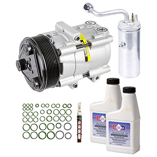 New AC Compressor & Clutch With Complete A/C Repair Kit For Ford Super Duty 6.0L - BuyAutoParts 60-80242RK New