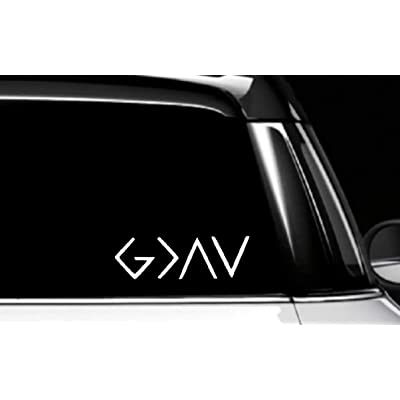 MAF- 2 Pack God is Greater Than Highs & Lows, Decal Vinyl Bumper Sticker for Cars, Vans, Trucks, | White 6 inches: Baby