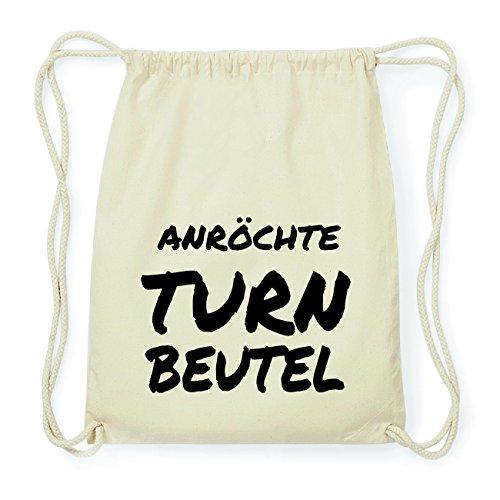 JOllify ANRÖCHTE Hipster Turnbeutel Tasche Rucksack aus Baumwolle - Farbe: natur Design: Turnbeutel