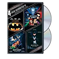4 películas favoritas: Batman Collection (Batman /Batman Forever /Batman y Robin /Batman Returns)
