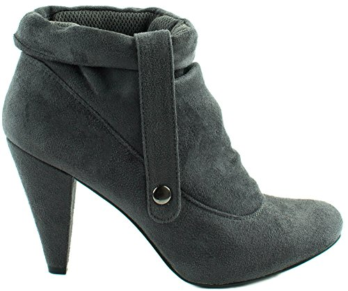 Bootie 1 Taylor Forever High Grey Womens Decorative With Ankle Heel Strap n4wqqYE5