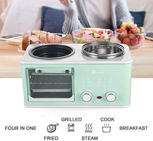 Toaster 2 Scheiben Frühstücksmaschine mit Omelettpfanne Eierkocher Timing Abbrechen Mini Bread Toaster Pizzaofen und elektrischer Hot Pot
