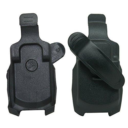 for Casio G'zOne Boulder C711 (Extended Battery) Black Swivel Belt Clip Holster