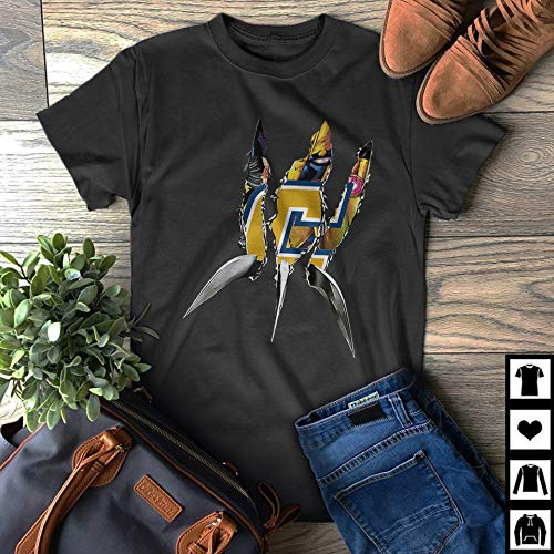 X-Men Logan Wolverine Chattanooga Mocs Fans Gift Dad Father's Day T-Shirt