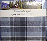 OEKO-TEX Flannel from Portugal 4 Piece Sheet Set, Size: Queen (Grey)