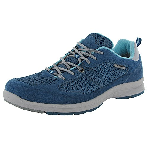 ALLROUNDER by MEPHISTO Women's Darga Oxford, Blue Suede/Mesh, 8.5 M US