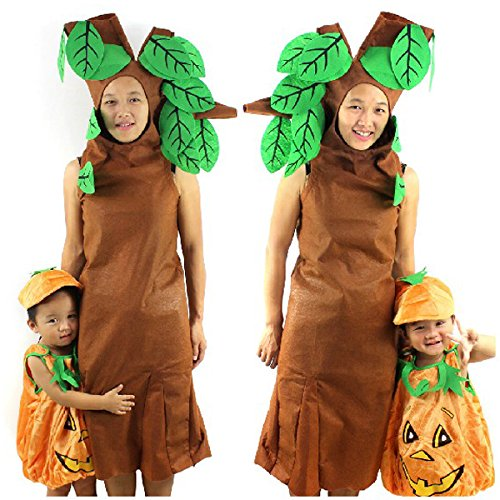Tinksky Unique Big Tree Shaped Non-woven Childrens Show Costume Dress Prop for Halloween /Show /Parties