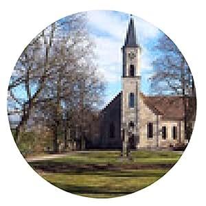alfombrilla de ratón Iglesia del Sagrado Corazón en Erlangen - ronda - 20cm