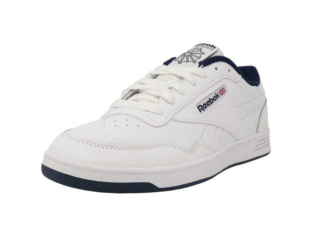 Reebok Men's Club MEMT Fashion Sneaker, White/Collegiate Navy, 9.5 M US by Reebok