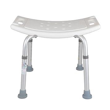 dusche badhocker duschsitz stuhl gebogener sitz duschstuhl verstellbar heavy duty max 200kg - Sitz Stuhl Fur Dusche
