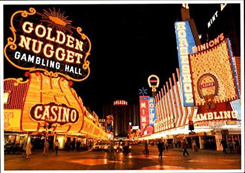 Downtown Fremont Street Casino Center Las Vegas, Nevada Original Vintage Postcard