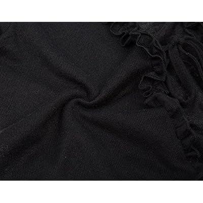 Kate Kasin Lightweight Shrug Bolero for Women Ruffle Cropped Knit Cardigan at Women's Clothing store