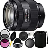 Sony 16-50mm f/2.8 Standard Zoom Lens for Sony A-Mount Cameras (White Box) + 3 Piece Filter Kit (UV-CPL-FLD) + Lens Pouch + Lens Dust Blower + Microfiber Cleaning Cloth