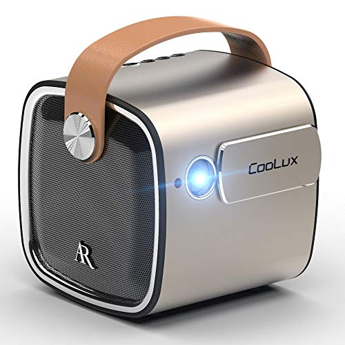 Coolux R4mini Projector LED Portable Bluetooth Speaker Build-in Battery(10400mAh) 7.1 Android System