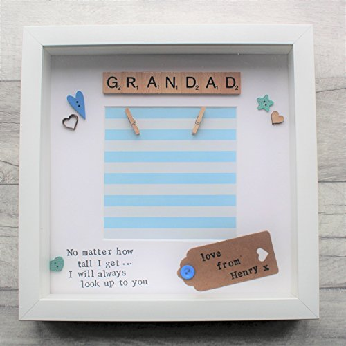 Birthday present Personalised Frame Present Gift Grandad Grandparents Father's Fathers Day custom design Christmas Handmade: Amazon.co.uk: Handmade