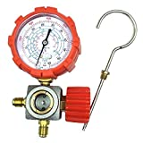 Nikauto R134 R410a R22 R404a Manifold Gauge High Low Pressure Gauge Without Hose (red)