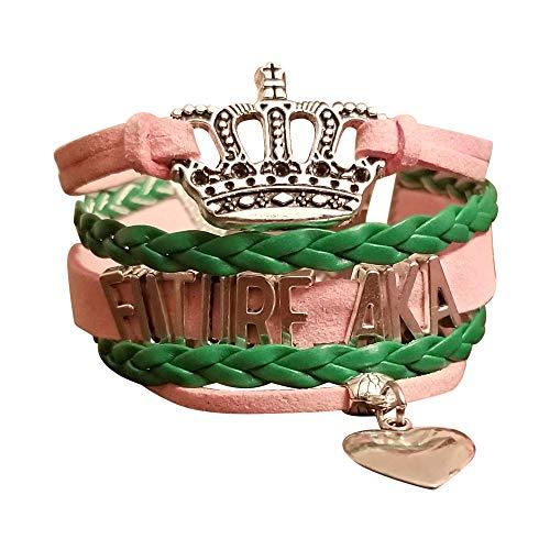 Greekin It Alpha Kappa Alpha Sorority | Future AKA Girls Charm Bracelet | Sorority Paraphernalia