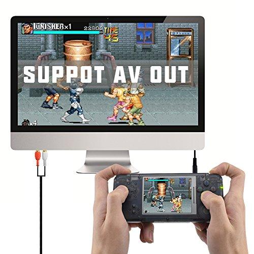 Consola de Juegos Retro Game Console 3.0 Pulgadas 800 Juegos TV-Output Videojuegos Port/átil Transparent Negro Anbernic Consolas de Juegos Port/átil