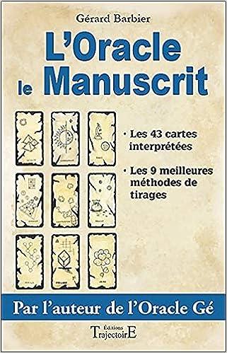 Amazon.fr - L Oracle le manuscrit - Gérard Barbier - Livres bb5facd5f79f