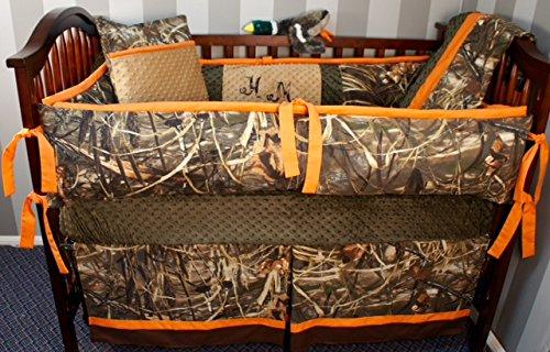 Max Bedding Nursery - Custom Made Baby Crib Nursery Bedding Max 4 HD Camo nursery set , blanket duck hunting